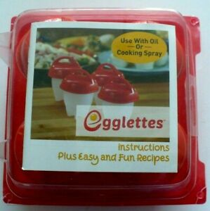 1 pack Egglettes( 4/pc) Silicone W/Instruction recipes -New