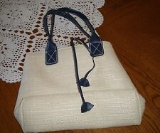 ESTEE LAUDER ~ Cosmetic Makeup Bag  ~ Pouch Case ~ BEIGE AND NAVY ~ NEW