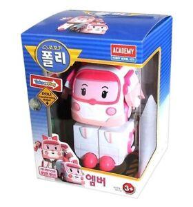 Robocar Poli AMBER Robot Transformer Car Toy Figure Action Korean TV