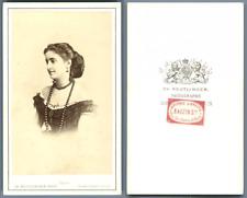 Adelina Patti vintage carte de visite, CDV, Adelina Patti (10 Février 1843-1827