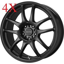 Drag wheels DR-31 17x7 4x100 Black Rims For Civic SI Mini Cooper S Lancer XA XB