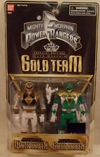 "Mighty Morphin Power Rangers Auto Morphin Gold Team 5"" Green & White Flip Head"