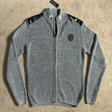 BUFFALO DAVID BITTON Waley Full Zip Knit Sweater BPM12106 (Medium) NWT $109