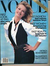 VOGUE July 1992 Fashion Magazine KAREN MULDER Cover by PAUL LANGE Very Fine