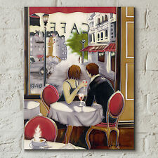 "After Hours Brent Heighton Ceramic Picture Tile Cafe Paris Kitchen 11x14"" 05069"