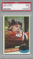 1980 Topps hockey card #181 Bob Murray, Chicago Blackhawks PSA 9 Mint
