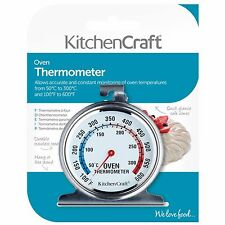 KITCHENCRAFT Stainless Steel Oven Thermometer. Baking/Roasting/Cake Making.