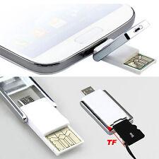 BL_ Mini Micro USB 2.0 OTG Adapter + Micro SD TF Card Reader for PC Samsung Dulc