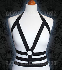 Body Harness Cage with center ring, Grunge, Witch, Goth, Burlesque pentagram