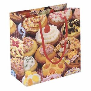 Cup Cakes Medium Gift Bag with matching gift-wrap & tag.