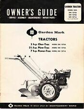 Mw Garden Mark 3hp Chor Trac 5hp Plow Trac Amp 7hp Power Trac Tiller Tractors Op
