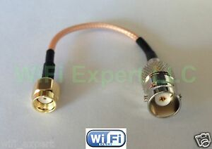 1x BNC Female to RP-SMA Male RF pigtail Cable RG316/RG174 4-20in USA Assmbld