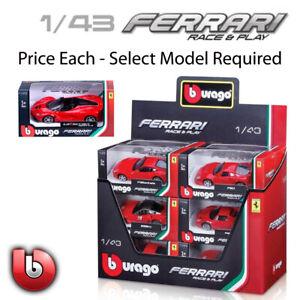 Bburago Ferrari Race & Play 1:43 Scale Diecast Model Car Gift Toy Collectable