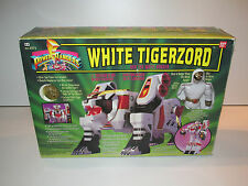 MMPR POWER RANGERS - WHITE RANGER & TIGERZORD MIB - BANDAI 1995