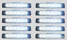 10 Piezas Blanco 24v 6 LED Lateral Delantero Marcador Indicador Faro Remolque: