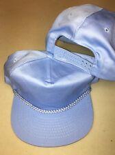 NOS BLANK COBALT LIGHT BLUE VINTAGE SNAPBACK HAT baseball cap imprinting A108