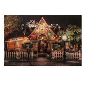 Christmas 46cm x 30cm LED Light up Canvas Picture - Mickey's House UKC97
