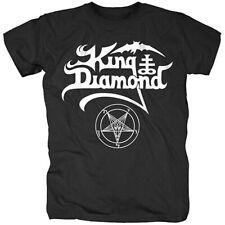 Authentic KING DIAMOND Name Logo T-Shirt S M L XL 2XL Black NEW