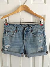 American Eagle Women's AE Denim Midi Jean Shorts Boyfriend Relaxed Fit Size 0