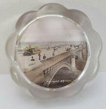 Vintage Australian Princes Bridge, Melbourne Photo Souvenir Glass Paperweight