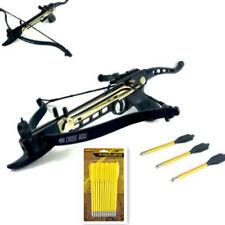80 LB ARCHERY HUNTING Gun SELF COCKING PISTOL CROSSBOW W/ 15 ARROWS BOLTS