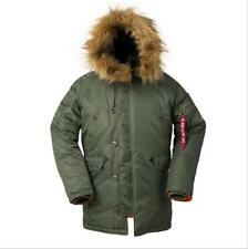 Cold Weather N-3B Military Slim-Fit Parka Jacket Long Insulated N3B Winter Coat