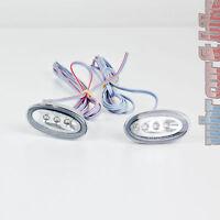 2 Stück Hella LED Seitenbegrenzungsleuchten SML silber chrom Seitenleuchte