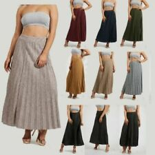 Long (More Than 36 in) Pleated Plus Size Skirts for Women