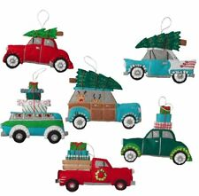 Bucilla Holiday Shopping Spree Felt Christmas Cars~Trucks Ornaments Kit Set of 6