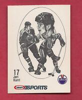 RARE 1986 OILERS JARI KURRI  KRAFT FOOD  CARD