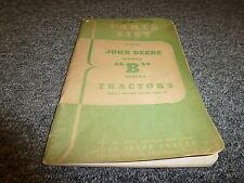 John Deere B Series Row Crop Tractor Parts Catalog Manual PLRB21247  B201000-Up