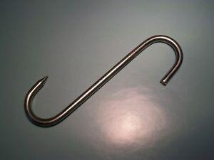 BGS Stainless Steel Meat Hook <> Butchers Hook <> 6 x 160mm <> Grade 4 <> GS TUV