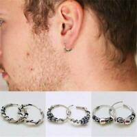 Unisex Silver Stud Hoop Earrings Men Women Cool Ear Dangle Jewelry Gift Simple