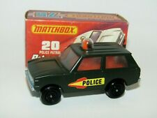 Matchbox Superfast No 20 Police Patrol OLIVE DRAB Police Labels MIB RARE