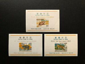 KOREA 1966 ANIMALS , Sc 502a - 504a , MNH