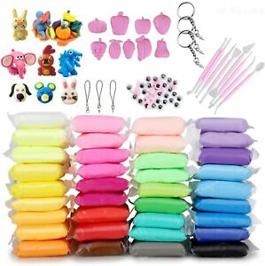 Air Dry Clay, DIY 36 Colors Modeling Clay Magic Crafts Kit Non-toxic Colors