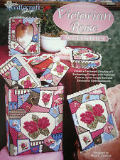 VICTORIAN ROSE ACCESSORIES  **PLASTIC CANVAS BOOK/LEAFLET**