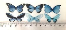 Blue Butterfly Edible Cake Decorations 30pc Mixed Species Mermaid Sea Wizard