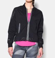 NWT $130 Under Armour Storm1 Black Zip Up Sporty Bomber Jacket Coat Women's XS