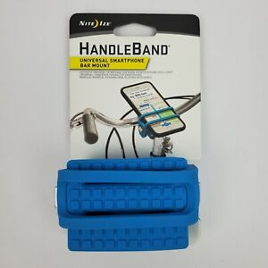 New Nite Ize HandleBand Blue Universal Smartphone Bike Bar Mount Phone Holder