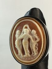 "AMEDEO ""3 Graces"" 25mm Cameo Ring Size ~ 6"