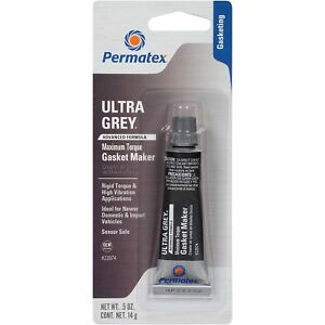 Permatex 22074 Ultra Grey rigid high-torque RTV silicone gasket maker 0.5oz 14g