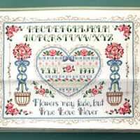 Dimentions Counted Cross Stitch True Love Sampler Karen Avery