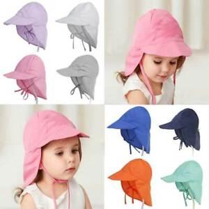 Kids Sun Hat With Neck Flap Legionnaires Cap Adjustable Baby Travel Beach Hats