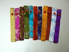 CHOPSTICK SLEEVE made from chinese patterned silky fabric great for special gift