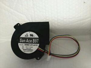 1pcs Sanyo 9BMB12P2J619 12V3.8A 9733 4-wire Turbine Blower Cooling Fan