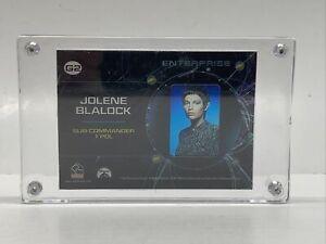 STAR TREK ENTERPRISE SEASON 2 GALLERY CEL G2 JOLENE BLALOCK T'POL CARD IN CASE