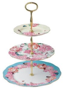 New MIRANDA KERR FOR ROYAL ALBERT Mixed Accents 3-Tier Cake Stand bone china