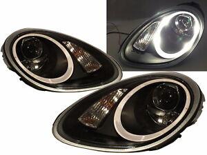 Cayman 987 2005-2008 PRE-FACELIFT 2D Projector Headlight Black for PORSCHE LHD