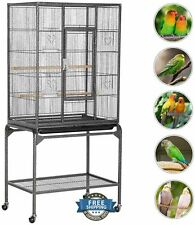 Wrought Iron Bird Cage Stand Metal Finch Canaries Parakeet Budgie Vintage Flight